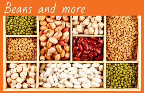 beans, lentils, chickbeans, peas, barley, legumes