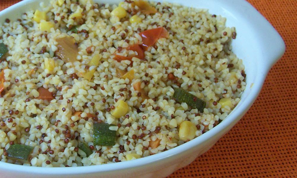 Ricetta Quinoa E Bulgur.Bulgur E Quinoa Con Verdure Molino Di Borgo San Dalmazzo